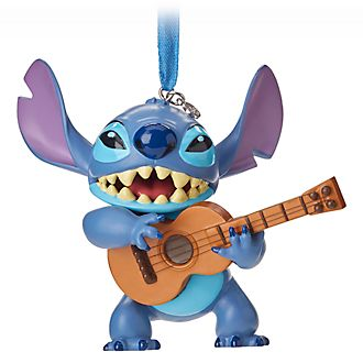 Disney Store Stitch with Guitar Hanging Ornament