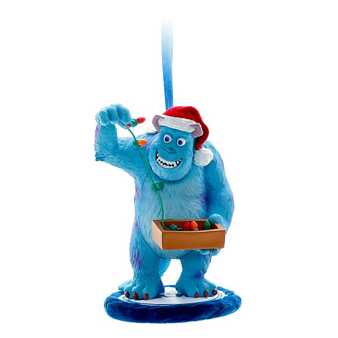 Disney Store Sulley Festive Hanging Ornament, Monsters Inc.