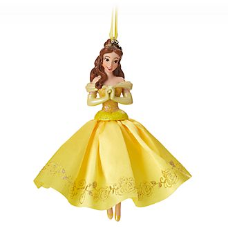 Disney Store Belle Christmas Tree Ornament, Beauty and the Beast