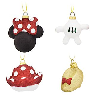 Disney Store Minnie Mouse Hanging Ornaments, Set of 4