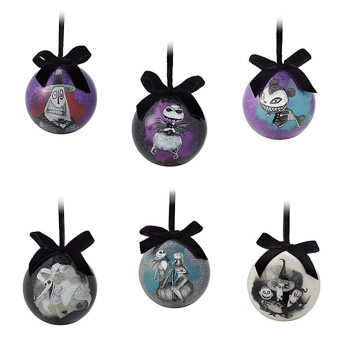 Disney Store The Nightmare Before Christmas Baubles, Set of 6