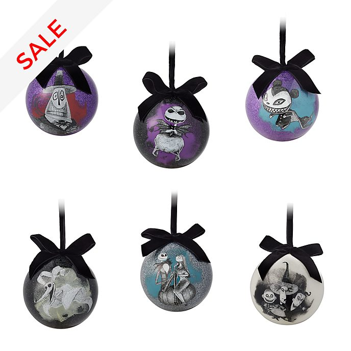 Disney Store - Nightmare Before Christmas - Weihnachts-Kugeln (6er-Pack)