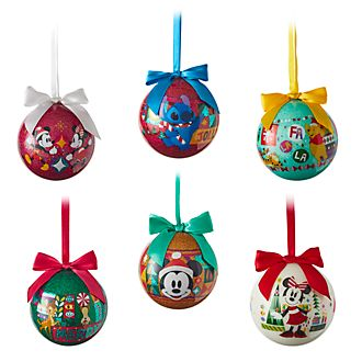 Disney Store Lot de 6 boules Share The Magic à suspendre