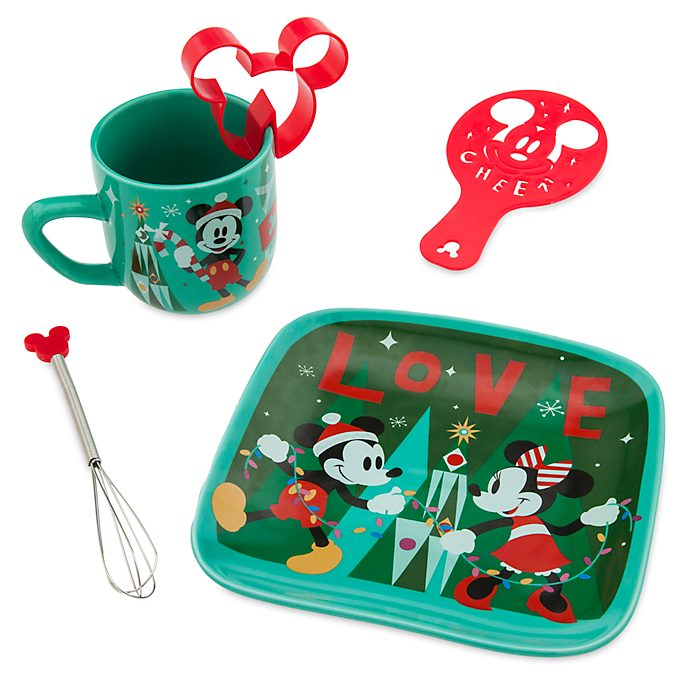 Set taza chocolate caliente Mickey y Minnie, Comparte la magia, Disney Store