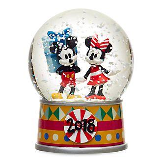 Disney Store Mickey and Minnie Share the Magic Snow Globe