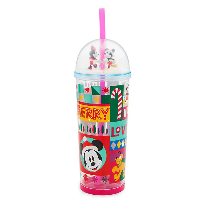 Disney Store Mickey and Friends Share the Magic Straw Tumbler