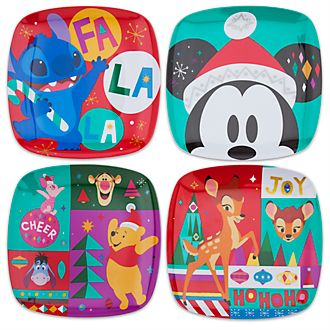 Disney Store Assiettes Mickey et ses amis, collection Share the Magic