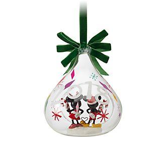 Disney Store Boule ouverte Mickey et Minnie Mouse à suspendre