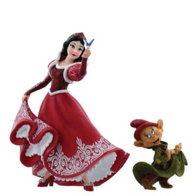 Disney Showcase Snow White and Dopey Festive Figurines