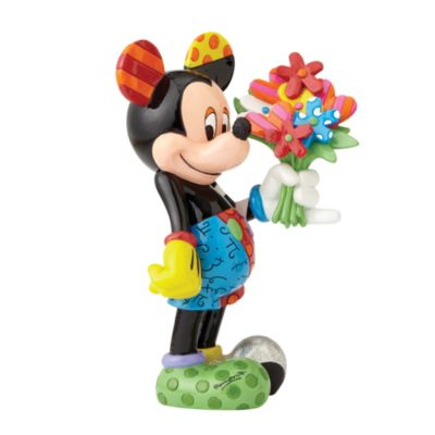 Britto Mickey Mouse with Flowers Figurine