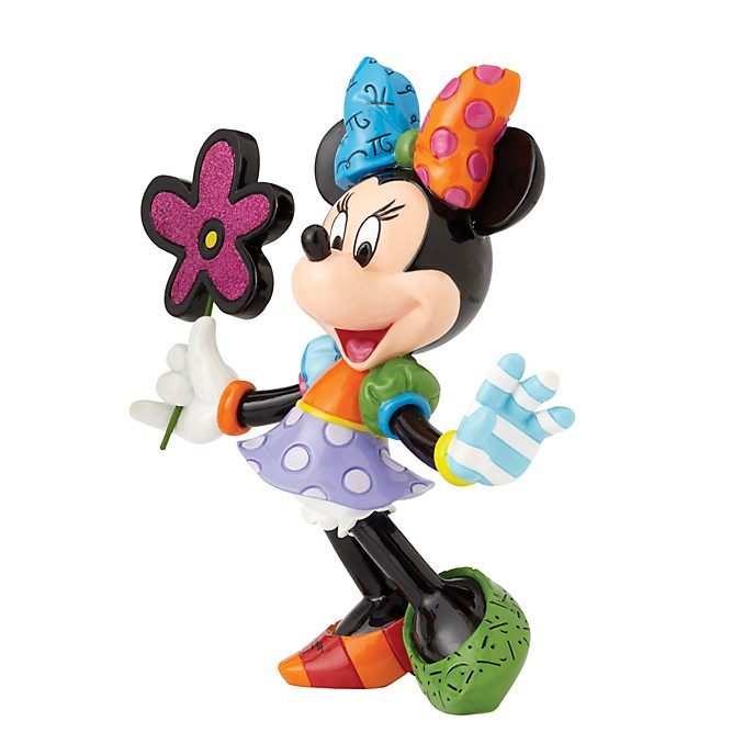 Britto Minnie Mouse with Flowers Figurine