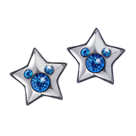 Disneyland Paris 25th Anniversary Blue Star Earrings
