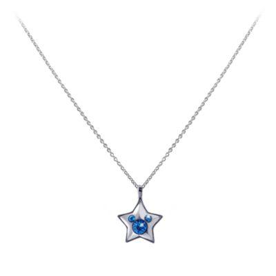 Disneyland Paris 25th Anniversary Blue Star Necklace