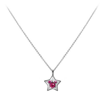 Disneyland Paris 25th Anniversary Pink Star Necklace