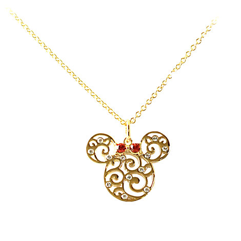Arribas Jewelled Collection Minnie Mouse Necklace