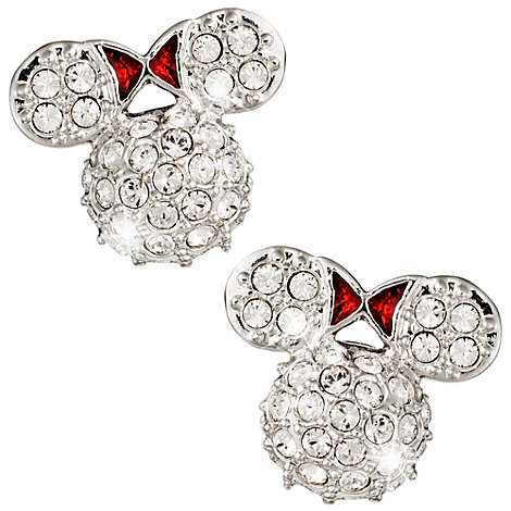 Arribas Jewelled Collection Minnie Mouse Earrings
