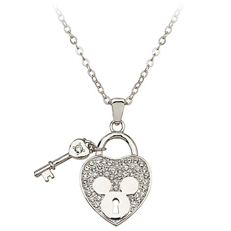 Mickey Mouse Heart and Key Necklace