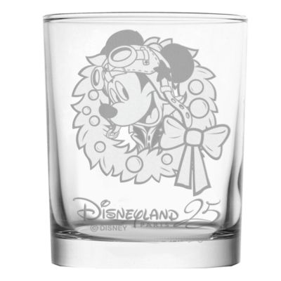 Mickey Mouse Personalised 25th Anniversary Glass Tumbler