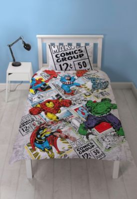 Marvel Comics Reversible Single Duvet Cover Set
