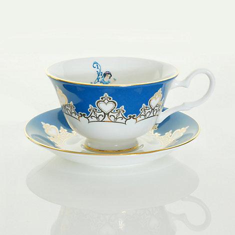 English Ladies Co. Bone China Snow White Tea Cup and Saucer