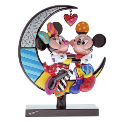 Britto Mickey and Minnie Limited Edition Moon Figurine