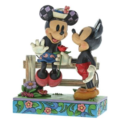 Disney Traditions Mickey and Minnie Fence Figurine