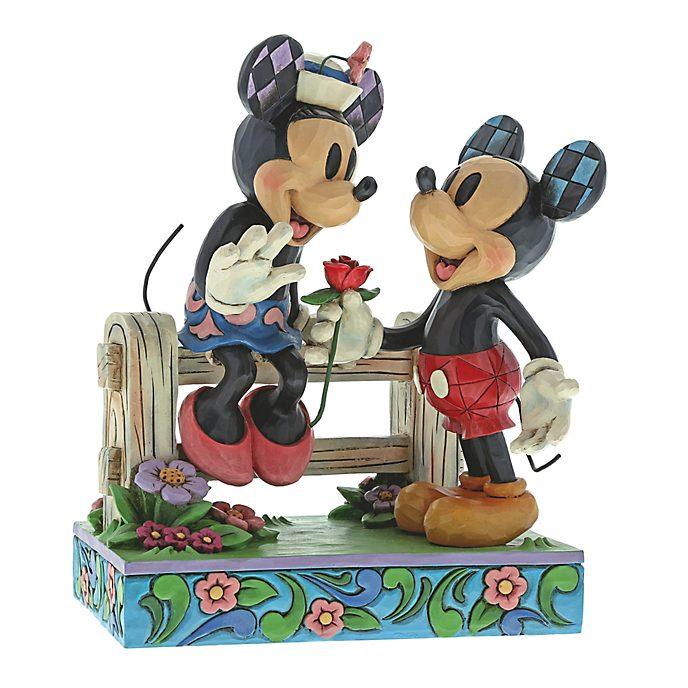 Disney Traditions Mickey and Minnie Fence Figurine