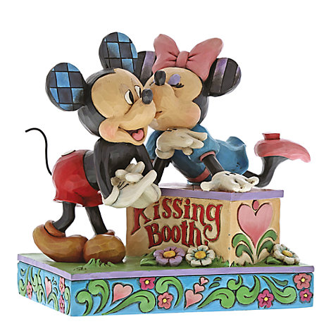 Disney Traditions Mickey and Minnie 'Kissing Booth' Figurine
