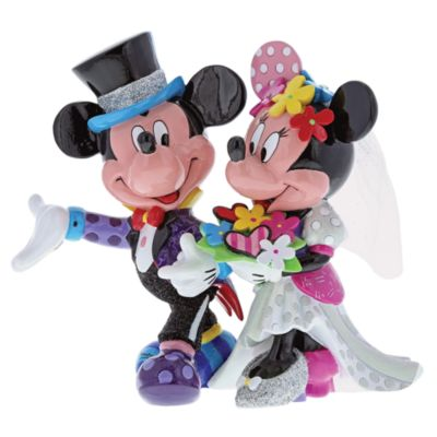 Britto Mickey and Minnie Wedding Figurine