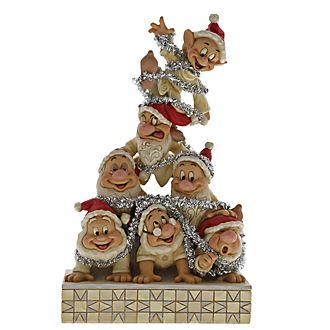 Enesco Seven Dwarfs Precarious Pyramid Disney Traditions Ornament