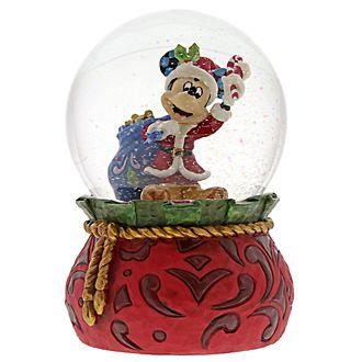 Disney Traditions Mickey Mouse Festive Snow Globe