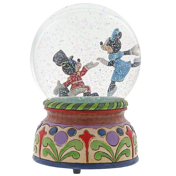 Disney Traditions Mickey and Minnie The Nutcracker Snow Globe