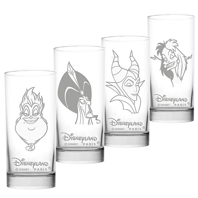 Arribas Disney Villains Long Glasses, Set of 4