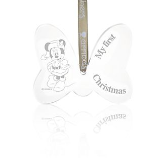 Arribas Minnie Mouse 'My First Christmas' Hanging Ornament