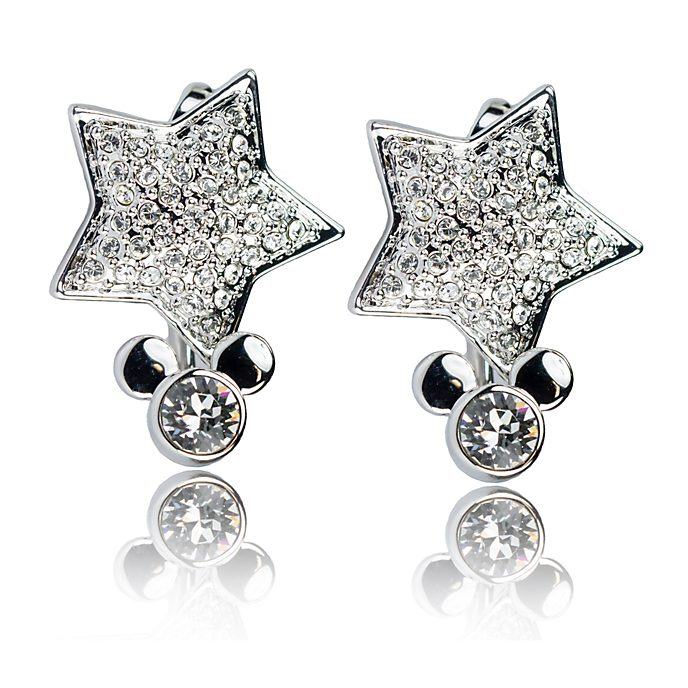Arribas Mickey Mouse Star Drop Earrings