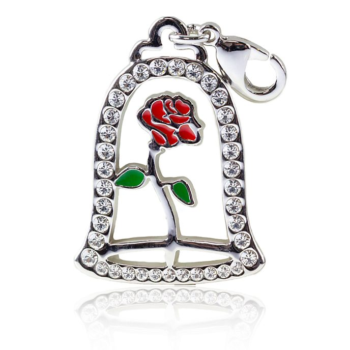 Arribas Enchanted Rose Charm