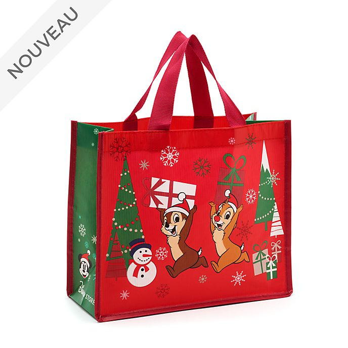 Disney Store Petit sac de shopping Tic et Tac, collection Holiday Cheer