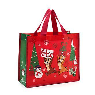 Bolsa reutilizable pequeña, Chip y Chop, Holiday Cheer, Disney Store