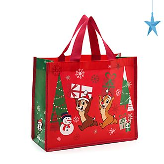 Bolsa reutilizable pequeña, Chip y Chop, Holiday Cheer, Disney Store
