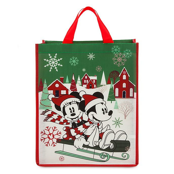 Disney Store Mickey and Minnie Holiday Cheer Reusable Shopper, Standard