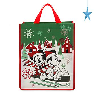 Bolsa reutilizable estándar, Mickey y Minnie, Holiday Cheer, Disney Store