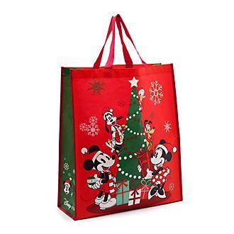 Borsa riutilizzabile grande Holiday Cheer Topolino e i suoi amici Disney Store