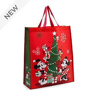 Disney Store Mickey and Friends Holiday Cheer Reusable Shopper, Large