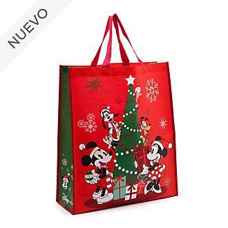 Bolsa reutilizable grande, Mickey y sus amigos, Holiday Cheer, Disney Store