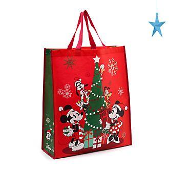 Disney Store - Holiday Cheer - Micky und Freunde - Mehrweg-Einkaufstasche, groß