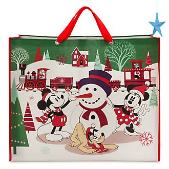 Bolsa reutilizable extragrande, Mickey y sus amigos, Holiday Cheer, Disney Store
