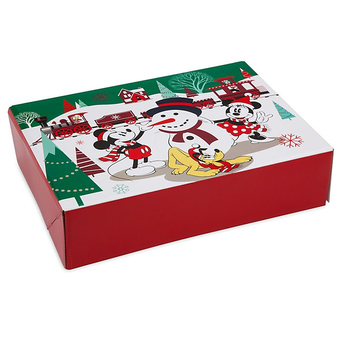 Disney Store Petite boîte cadeau Mickey et ses amis, collection Holiday Cheer
