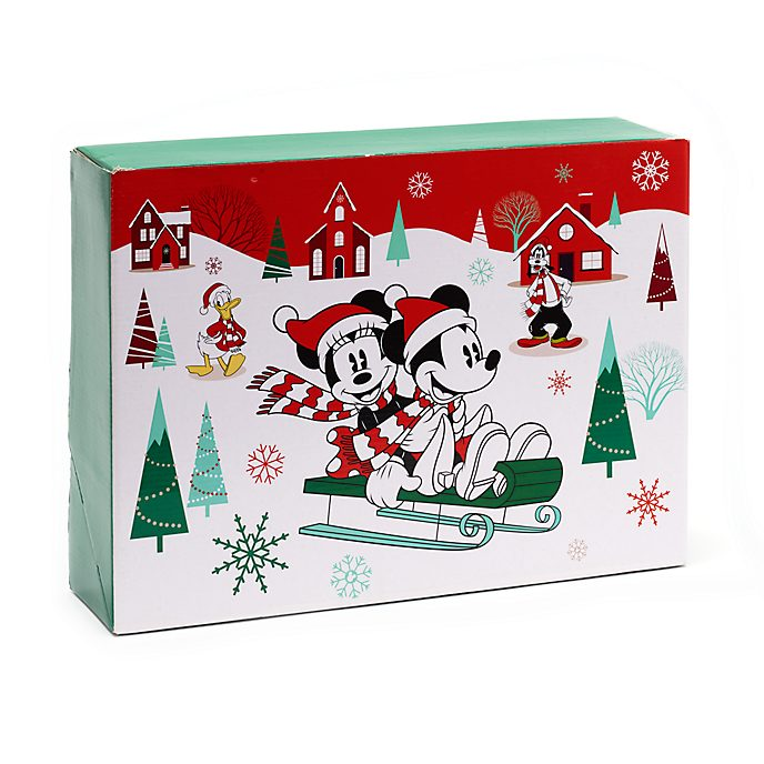 Disney Store Grande boîte cadeau Mickey et ses amis, collection Holiday Cheer
