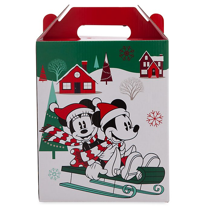 Disney Store Mickey and Friends Holiday Cheer Gift Box with Handle, Small