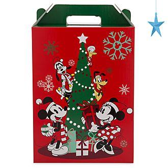 Scatola regalo con manico grande Holiday Cheer Topolino e i suoi amici Disney Store